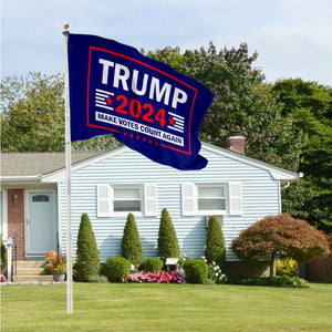Trump 2024 Make Votes Count Again & Louisiana For Trump 3 x 5 Flag Bundle