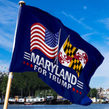 Maryland For Trump 3 x 5 Flag - Limited Edition Dual Flags Sale