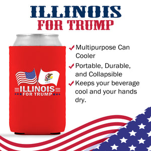 Illinois For Trump Limited Edition Can Cooler 6 Pack