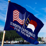 North Carolina For Trump 3 x 5 Flag - Limited Edition Dual Flags
