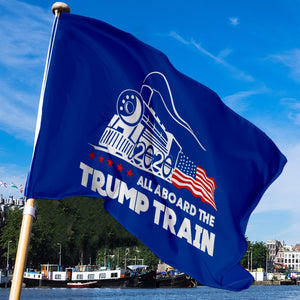 All Aboard The Trump Train - 3 x 5 Flag Sale
