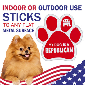 My Dog Is A Republican Car Magnet