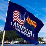 Arizona For Trump 3 x 5 Flag - Limited Edition Dual Flags Lowest Price Ever!