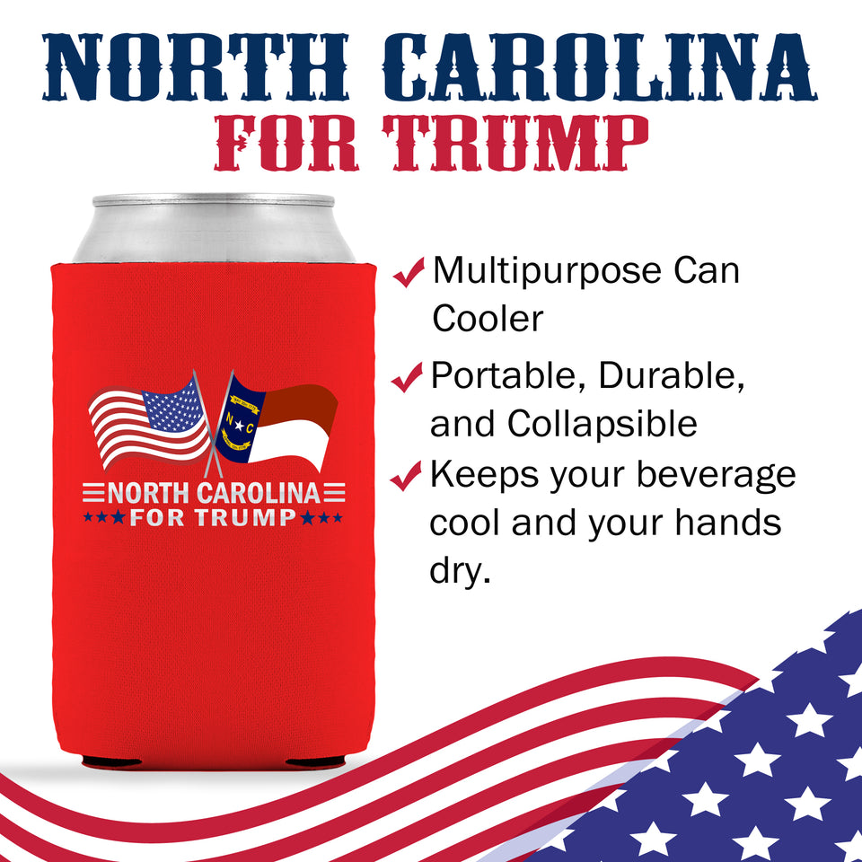 North Carolina For Trump Limited Edition Can Cooler 6 Pack