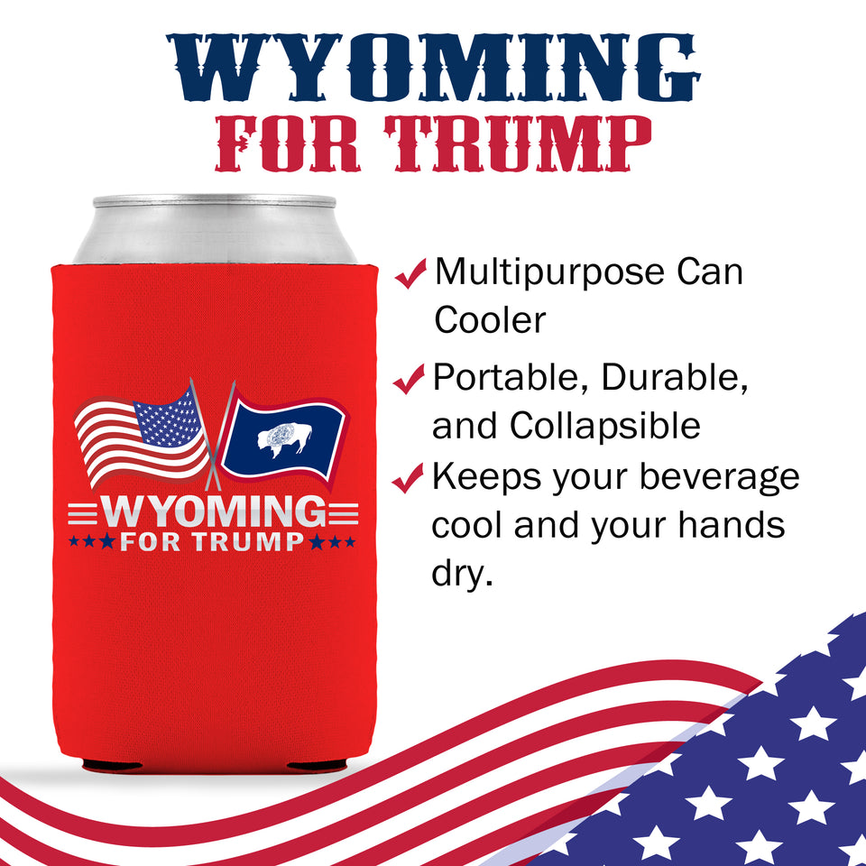 Wyoming For Trump Limited Edition Can Cooler 4 Pack