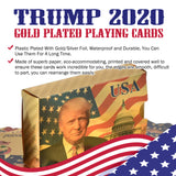 Trump 2020 Gold Plated Playing Cards