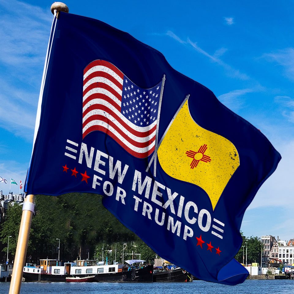 New Mexico For Trump 3 x 5 Flag - Limited Edition Dual Flags Sale
