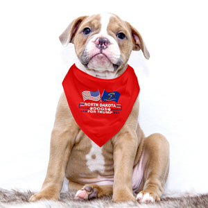 North Dakota For Trump Dog Bandana Limited Edition