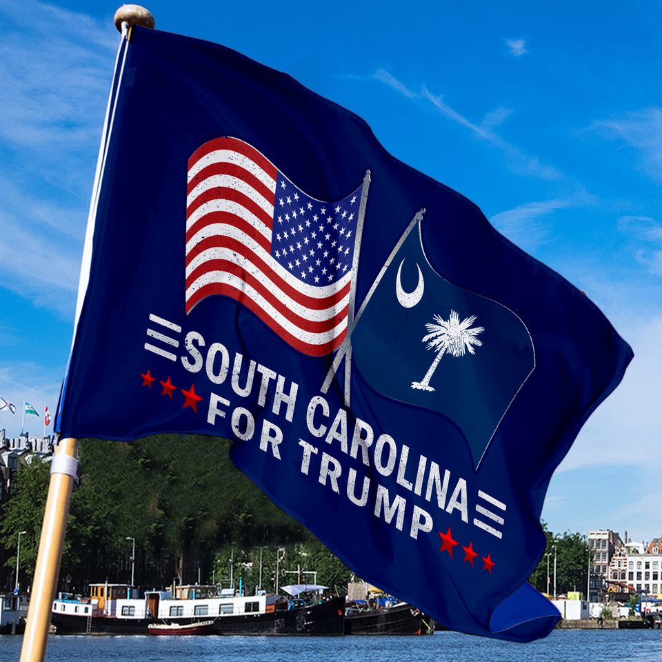 South Carolina For Trump 3 x 5 Flag - Limited Edition Dual Flags Sale