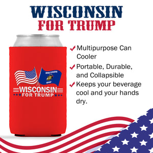 Wisconsin For Trump Limited Edition Can Cooler 6 Pack