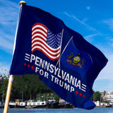 Pennsylvania For Trump 3 x 5 Flag - Limited Edition Dual Flags