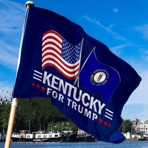 Kentucky For Trump 3 x 5 Flag - Limited Edition Dual Flags