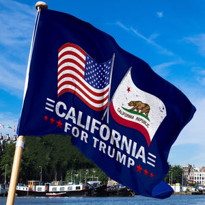 California For Trump 3 x 5 Flag - Limited Edition Dual Flags
