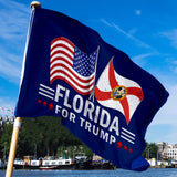Florida For Trump 3 x 5 Flag - Limited Edition Dual Flags Lowest Price Ever!