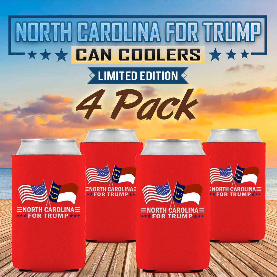 North Carolina For Trump Limited Edition Can Cooler 4 Pack
