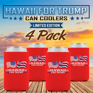 Hawaii For Trump Limited Edition Can Cooler 4 Pack