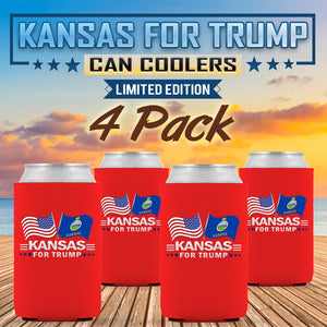Kansas For Trump Limited Edition Can Cooler 4 Pack