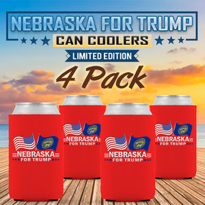 Nebraska For Trump Limited Edition Can Cooler  4 Pack