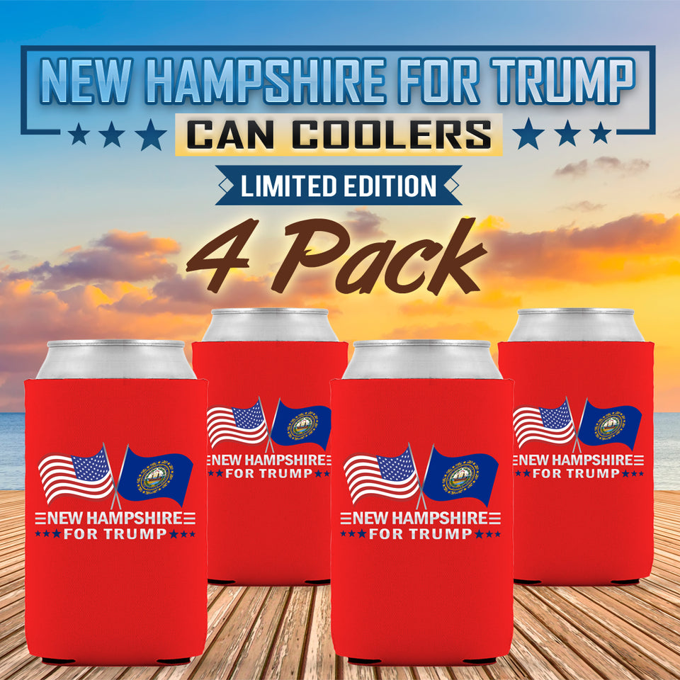 New Hampshire For Trump Limited Edition Can Cooler 4 Pack