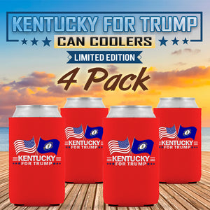 Kentucky For Trump Limited Edition Can Cooler 4 Pack