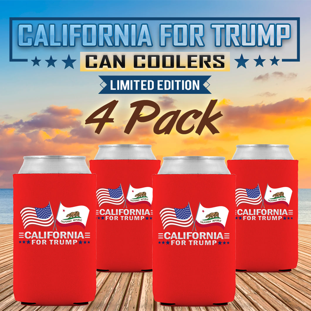 California For Trump Limited Edition Can Cooler 4 Pack