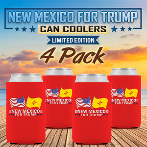 New Mexico For Trump Limited Edition Can Cooler 4 Pack