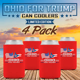 Ohio For Trump Limited Edition Can Cooler 4 Pack