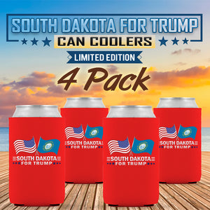 South Dakota For Trump Limited Edition Can Cooler 4 Pack