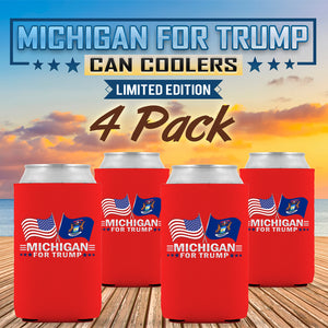 Michigan For Trump Limited Edition Can Cooler 4 Pack