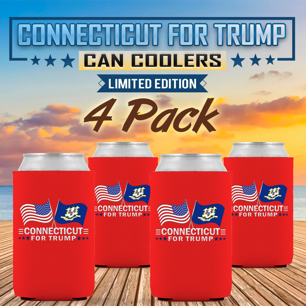 Connecticut For Trump Limited Edition Can Cooler 4 Pack