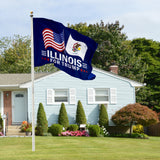 Illinois For Trump 3 x 5 Flag - Limited Edition Dual Flags Sale