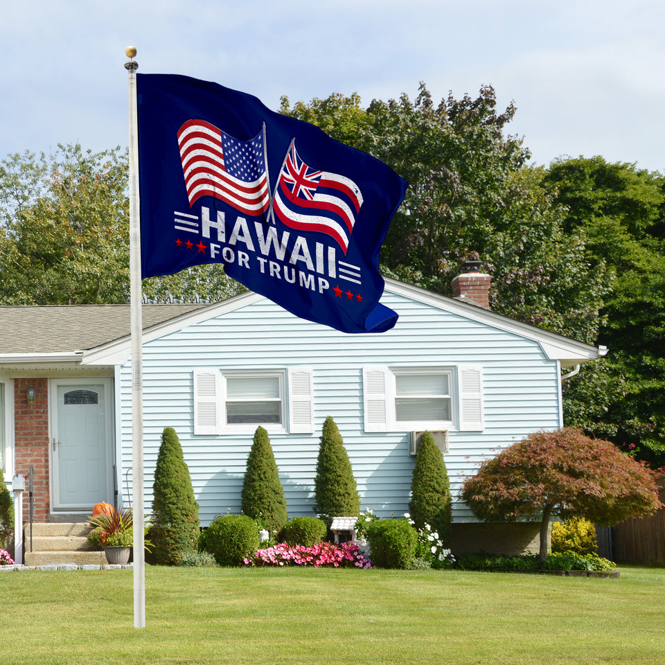 Hawaii For Trump 3 x 5 Flag - Limited Edition Dual Flags