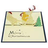 Reindeer's Sleigh Pop Up Christmas Card