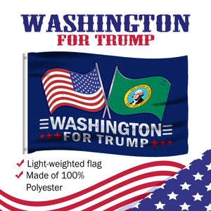 Washington For Trump 3 x 5 Flag - Limited Edition Dual Flags Sale