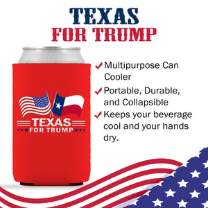 Texas For Trump Limited Edition Can Cooler 6 Pack