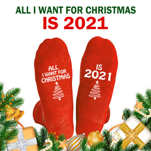 All I Want For Christmas Is 2021 Socks