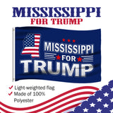Mississippi For Trump 3 x 5 Flag - Limited Edition Flags Sale Lowest Price Ever!