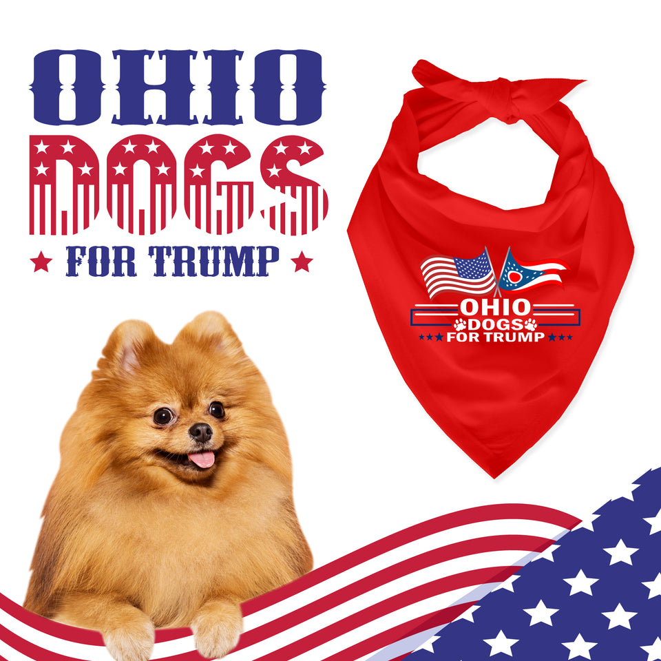 Ohio For Trump Dog Bandana Limited Edition Sale