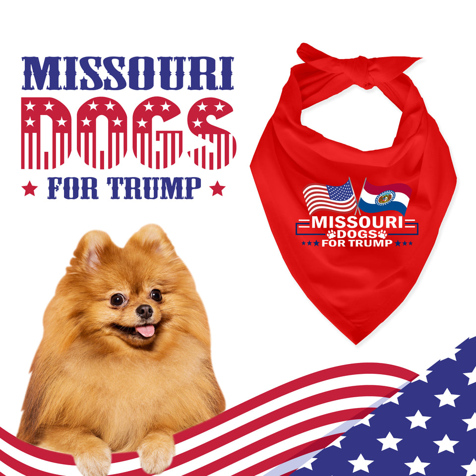 Missouri For Trump Dog Bandana Limited Edition Lowest Price Ever!