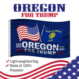 Oregon For Trump 3 x 5 Flag - Limited Edition Dual Flags Sale