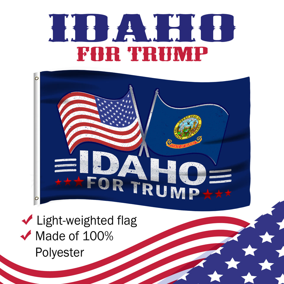 Idaho For Trump 3 x 5 Flag - Limited Edition Dual Flags Sale