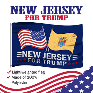 New Jersey For Trump 3 x 5 Flag - Limited Edition Dual Flags
