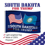 South Dakota For Trump 3 x 5 Flag - Limited Edition Dual Flags Lowest Price Ever