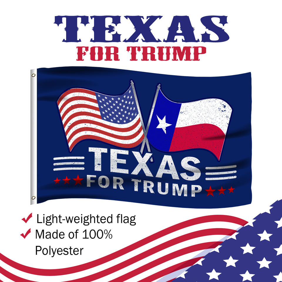 Texas For Trump 3 x 5 Flag - Limited Edition Dual Flags