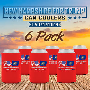New Hampshire For Trump Limited Edition Can Cooler 6 Pack