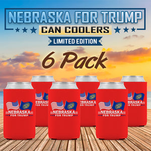 Nebraska For Trump Limited Edition Can Cooler  6 Pack