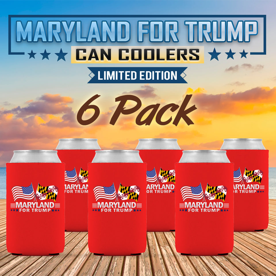 Maryland For Trump Limited Edition Can Cooler 6 Pack