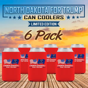North Dakota For Trump Limited Edition Can Cooler 6 Pack
