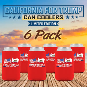 California For Trump Limited Edition Can Cooler  6 Pack