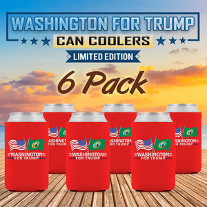 Washington For Trump Limited Edition Can Cooler 6 Pack